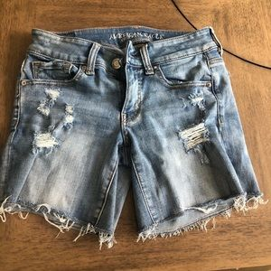 AE Jean distressed shorts